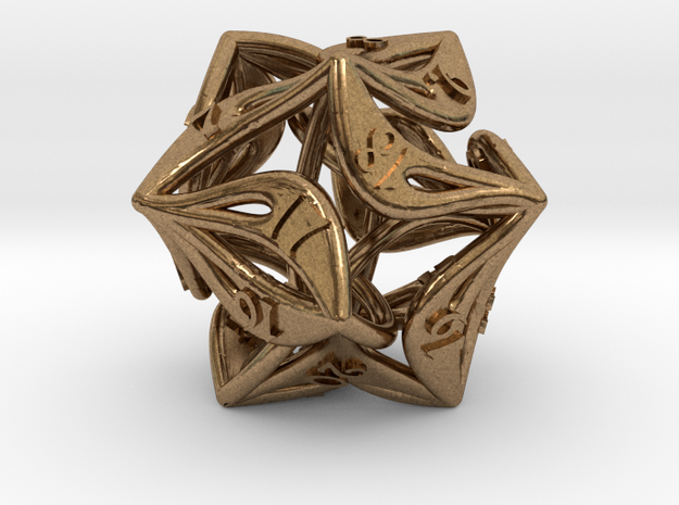 Countdown Curlicue 20-Sided Dice (alternate)