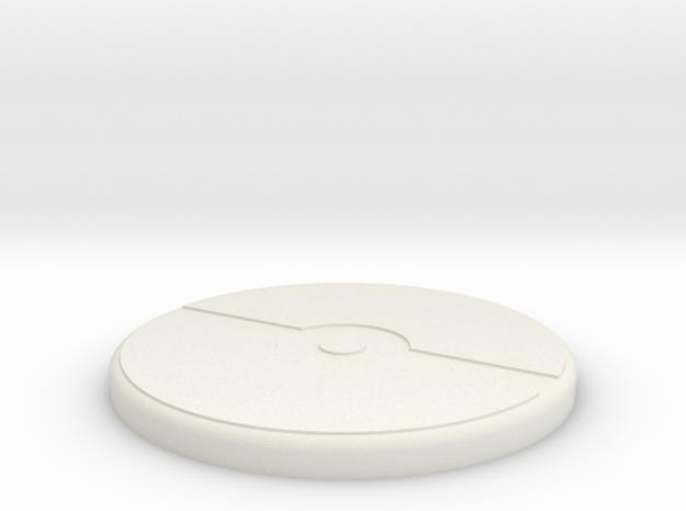 PokeDecal in White Natural Versatile Plastic