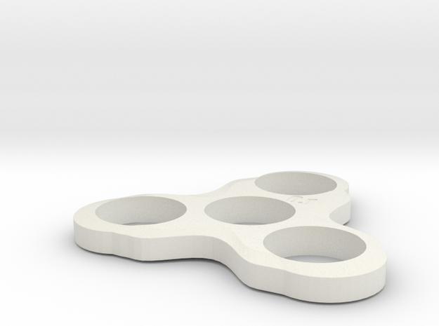 Fidget Spinner in White Strong & Flexible