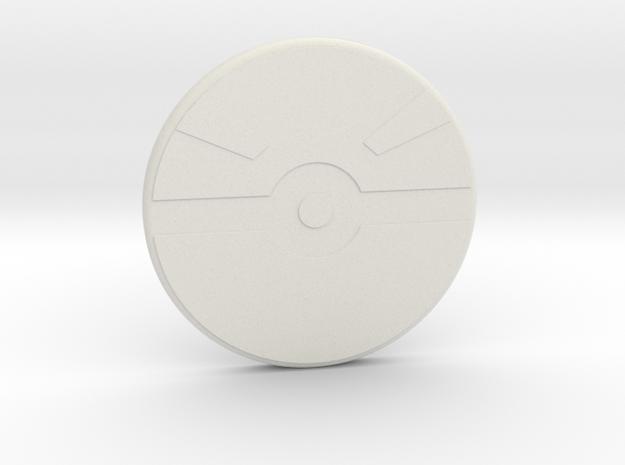 Poke Decal in White Natural Versatile Plastic