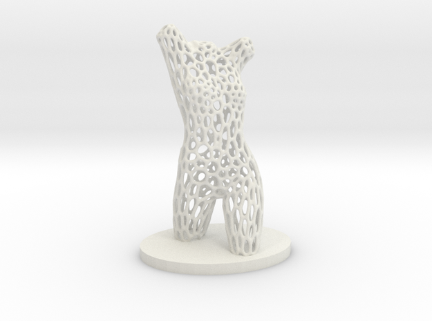 Dancer Torso 01 Voronoi Style in White Strong & Flexible