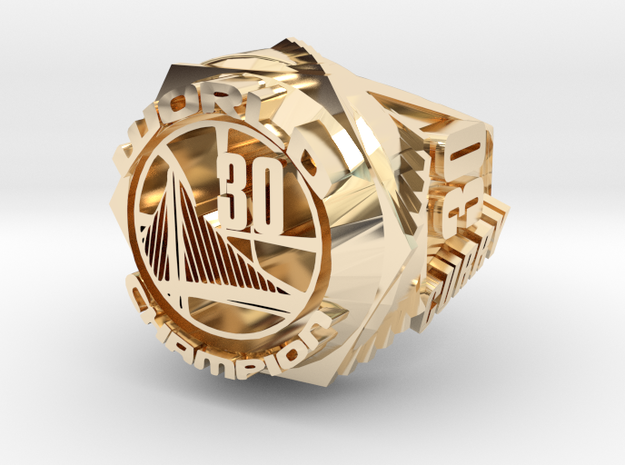 Curry championship Ring in 14K Yellow Gold