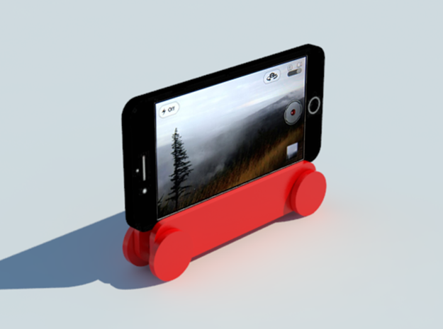 Iphone 7 Rolling Stand in Red Processed Versatile Plastic