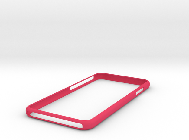 iphone7+ (more) bumper in Pink Processed Versatile Plastic