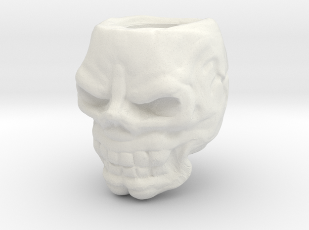 Skull bead in White Strong & Flexible