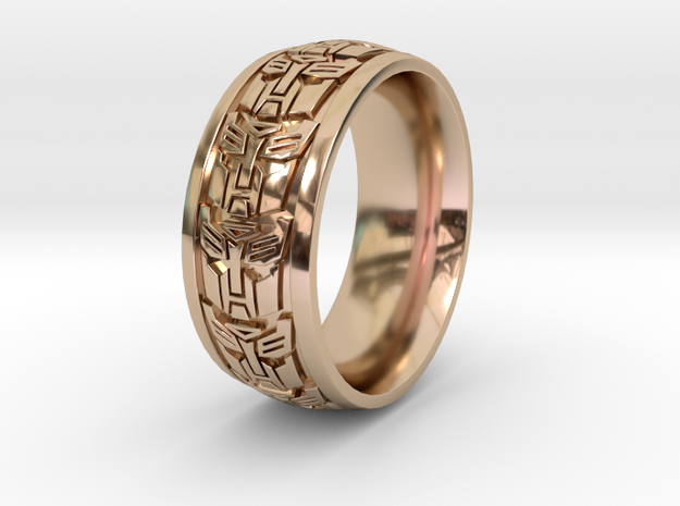 ROBOT RING 1 SIZE 9.5 in 14k Rose Gold Plated Brass