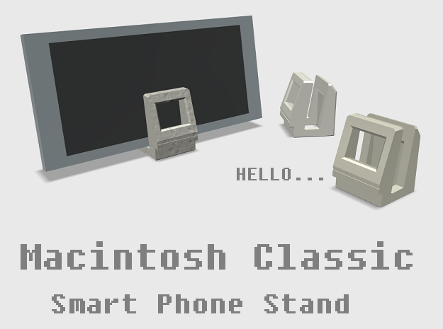 Apple Macintosh Classic Smart Phone Stand in White Strong & Flexible
