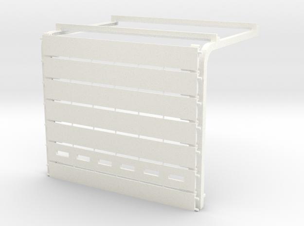 1/64 Overhead Door 27.5w x 22h (5.2w X 4.125h) Kit in White Processed Versatile Plastic