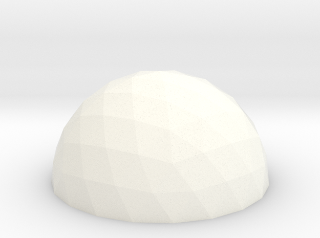 Geodesic Dome V4 10cm in White Processed Versatile Plastic