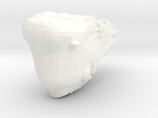 Dominix Ship Eve Online 8cm Spaceship in White Processed Versatile Plastic