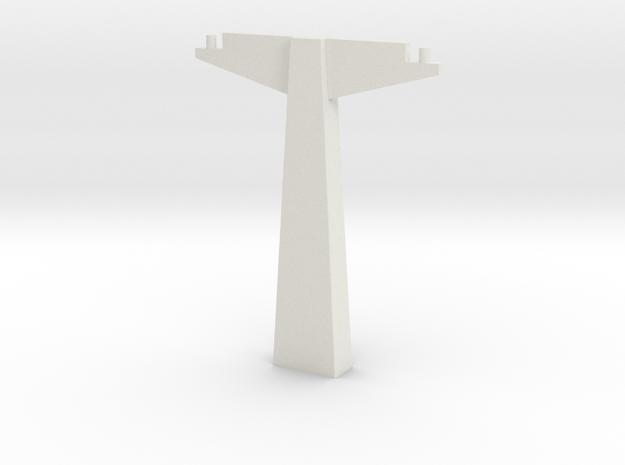Pylon WDW Dual (HO scale) in White Natural Versatile Plastic