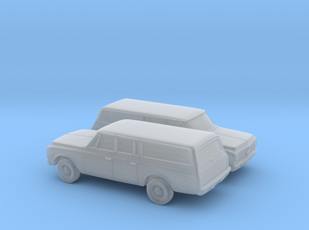1/160 2X 1971-72 Chevy Suburban in Smooth Fine Detail Plastic