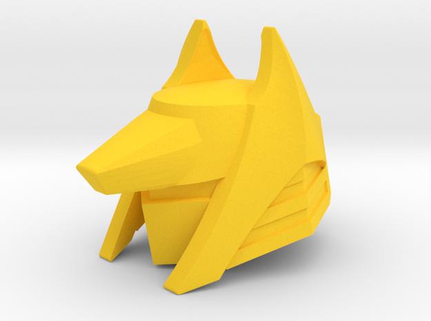 Golden Jackel Mask in Yellow Processed Versatile Plastic
