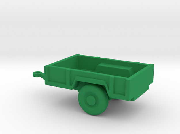 1/110 Scale M-101 Trailer in Green Strong & Flexible Polished