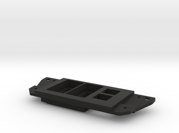 Tacoma Dual Narrow Switch With Double Keystone in Black Natural Versatile Plastic