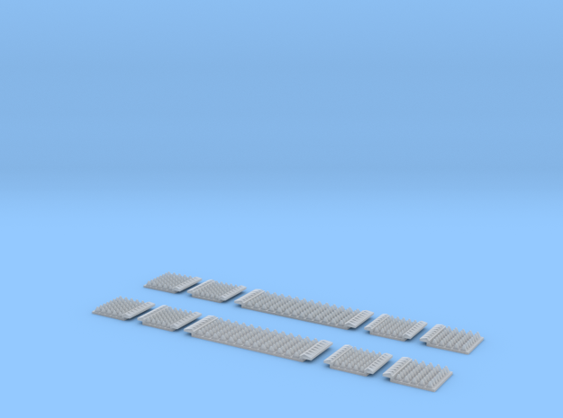 N Gauge Polymer Anti-trespass Panels Setrack 55 in Frosted Ultra Detail: 1:148