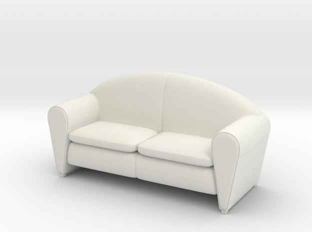 Sofa 1/18 002 in White Natural Versatile Plastic: 1:18