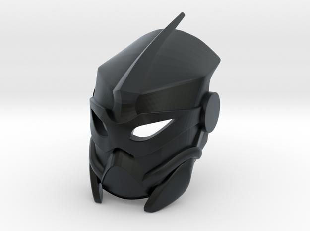 Custom Kanohi Mahiki in Black Hi-Def Acrylate