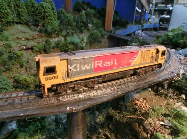 NZ120 KIWIRAIL DL CLASS incl Bogie Sideframes in Smooth Fine Detail Plastic