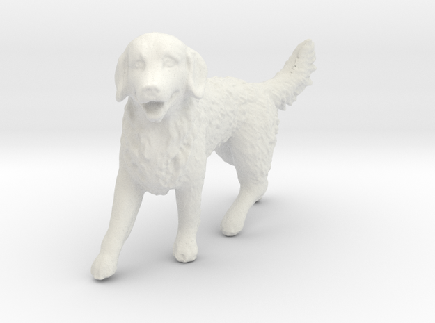 1/24 Golden Retriever Walking Male in White Natural Versatile Plastic