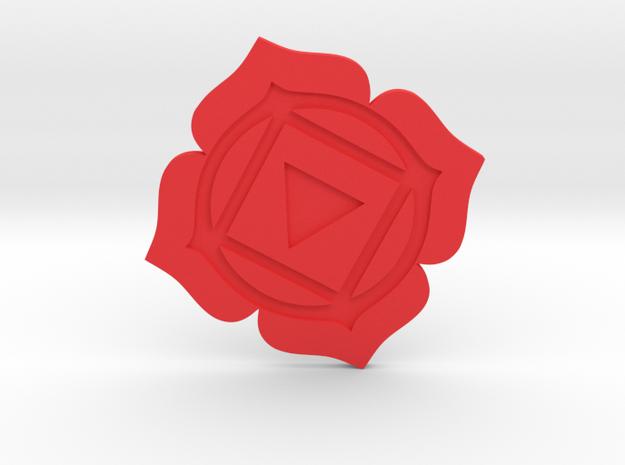 Root Chakra Token in Red Processed Versatile Plastic