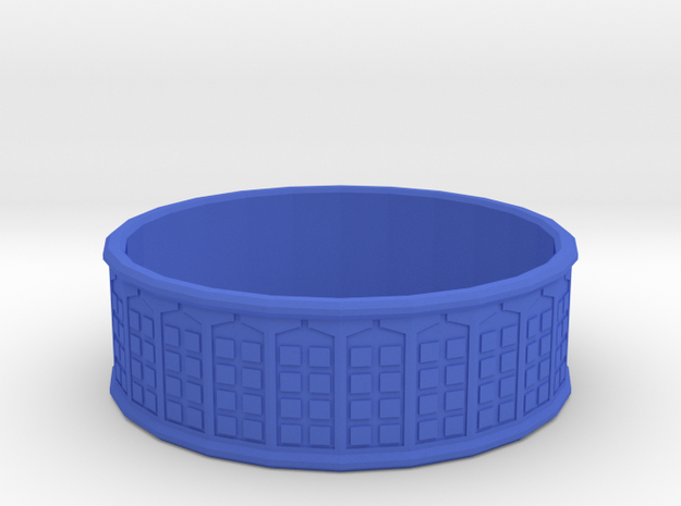 Tardis Ring, 18mm in Blue Processed Versatile Plastic
