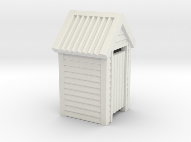 N Scale Wooden Outdoor Toilet Dunny 1:160 in White Natural Versatile Plastic