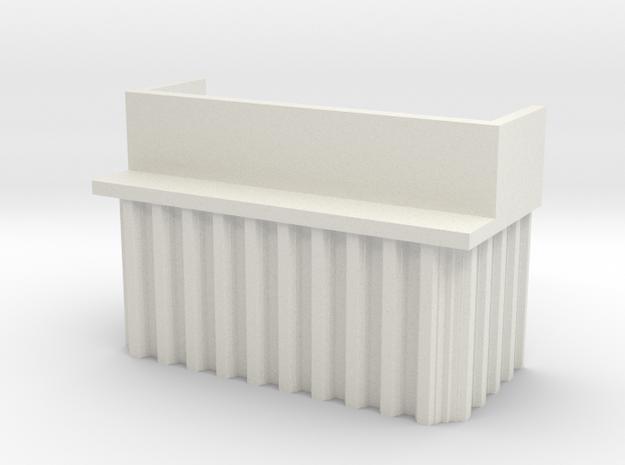 N Scale Bridge Abutment Sheet Piling (H55 W80) in White Natural Versatile Plastic