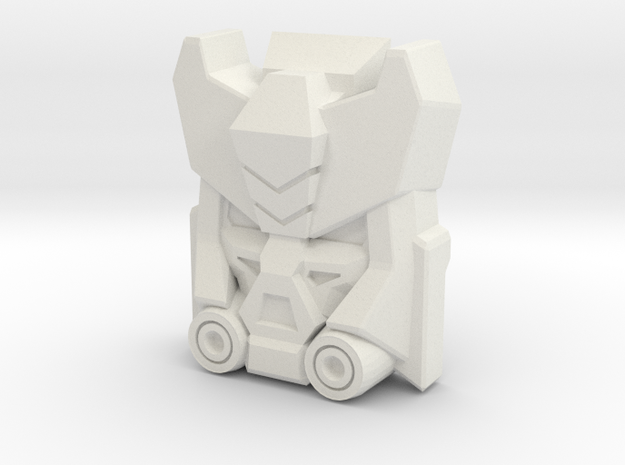 Deadend, Construct-Bots Face (Titans Return) in White Natural Versatile Plastic