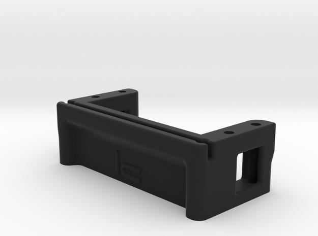 Low Profile Servo Mount in Black Natural Versatile Plastic