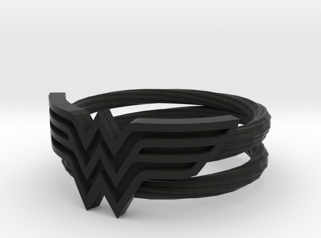 Wonder Woman Ring With Lasso Size 7 in Black Natural Versatile Plastic: 7 / 54