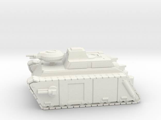 Armoured Frog in White Natural Versatile Plastic