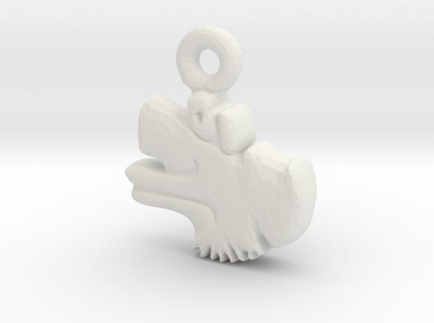 Aztec Wind Pendant in White Natural Versatile Plastic