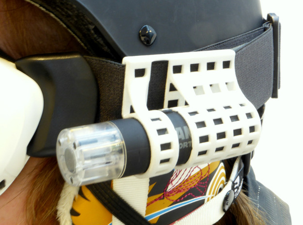 Camsports: mount for skigoggles 3d printed Smart details