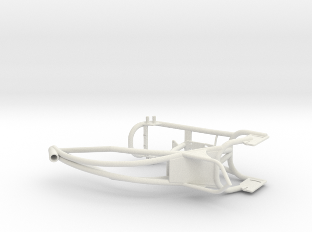 Custom bike frame in White Natural Versatile Plastic