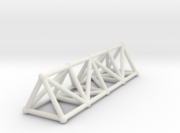 Basic Structure in White Natural Versatile Plastic