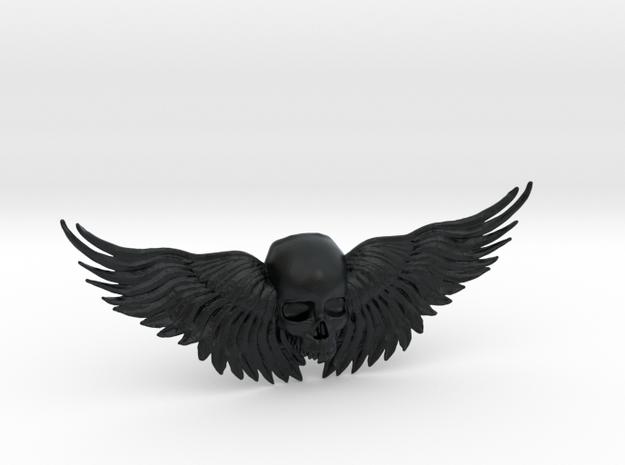 Winged Skull ring  in Black Hi-Def Acrylate: 10.5 / 62.75