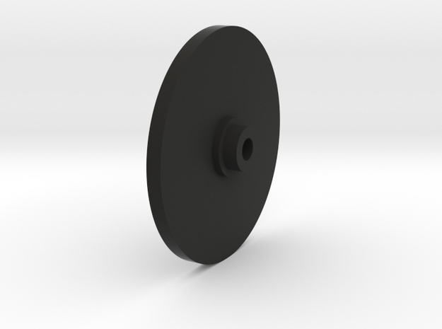 Wheel Disk in Black Natural Versatile Plastic