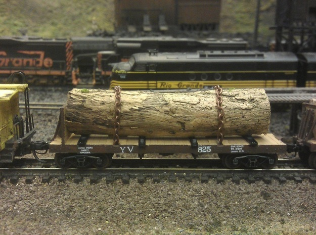 Yosemite Bulk Head Log Car x5 - N Scale 1:160 in Smooth Fine Detail Plastic