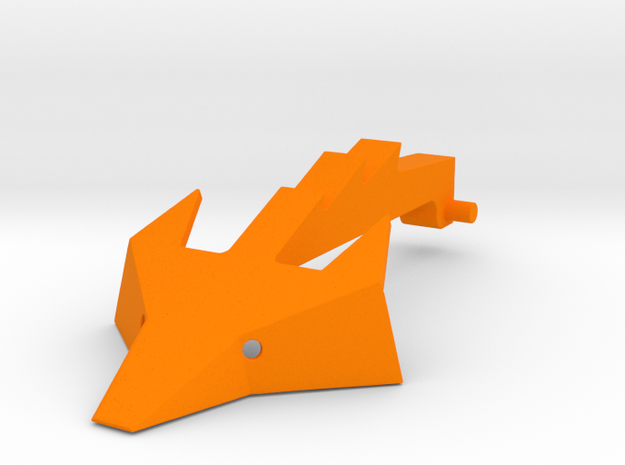 Foxic 1/10th scale arm and head  in Orange Processed Versatile Plastic