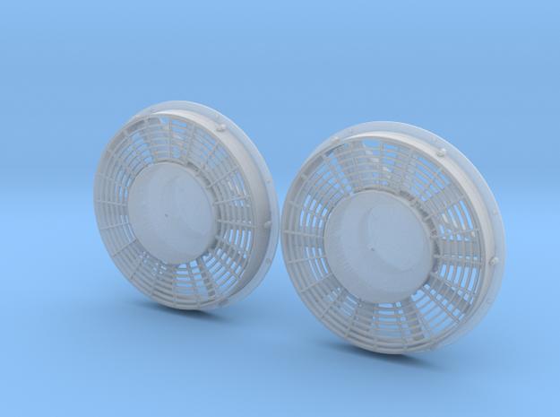 """FN0015 48"""" Dynamic Brake Hub Fan 1/87.1 in Smoothest Fine Detail Plastic"""