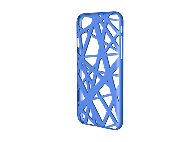 iPhone 7 Case_Intersection in Blue Strong & Flexible Polished