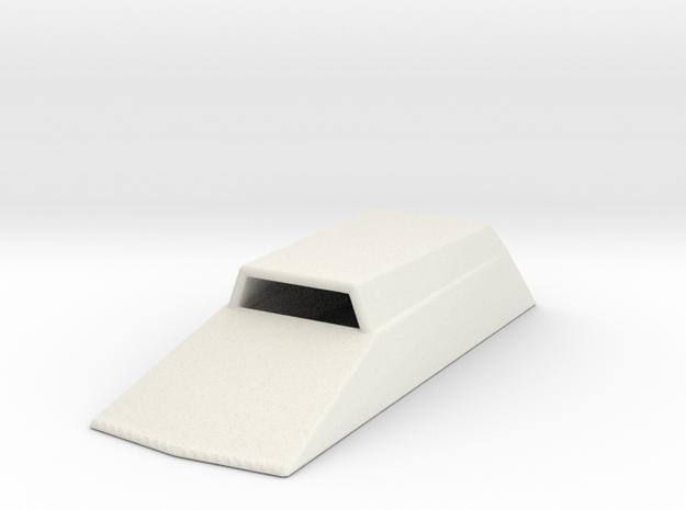 Hood Scoop V2 1/25 in White Natural Versatile Plastic