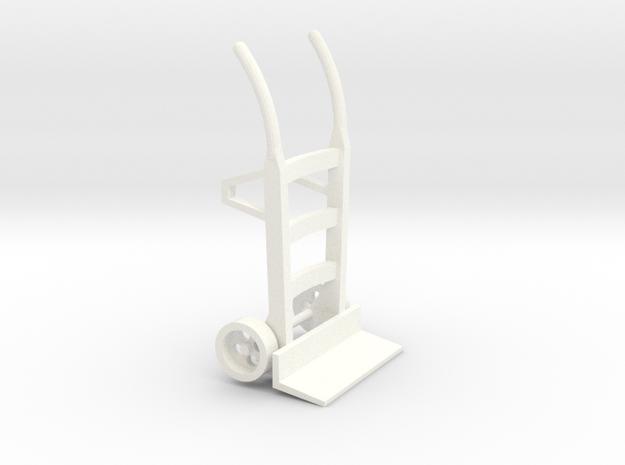 S2-282  Sackkarre Holz  in White Processed Versatile Plastic