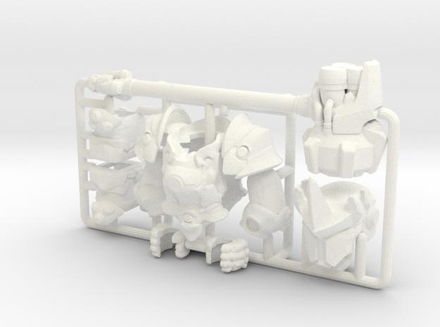 Custom Reinhardt Inspired Figure for Lego in White Processed Versatile Plastic