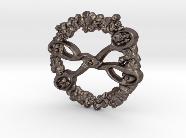 flower scissors in Polished Bronzed Silver Steel