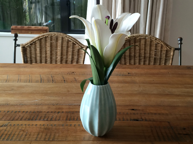 Elegant Vase in Gloss Celadon Green Porcelain