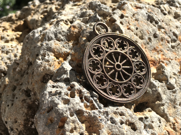 Rose Window Pendant