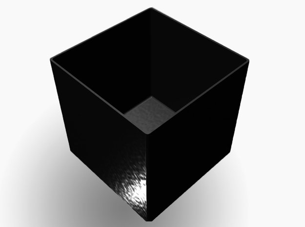 SimpleBox 5 cm^3 b.13 3d printed Box (black)