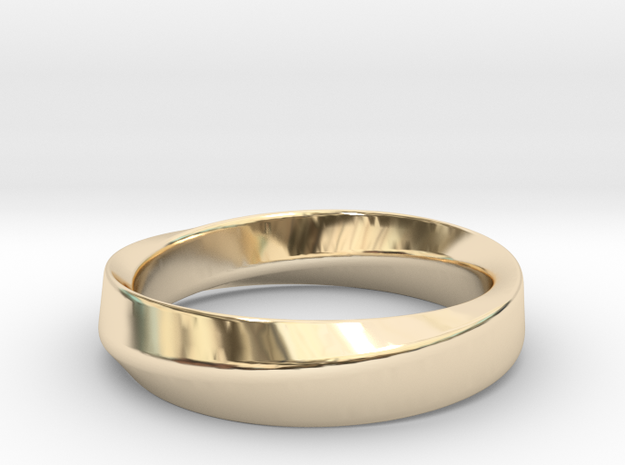 Mobius Ring in 14k Gold Plated